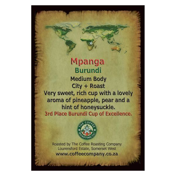 Burundi - Mpanga - Single Origin Green Beans