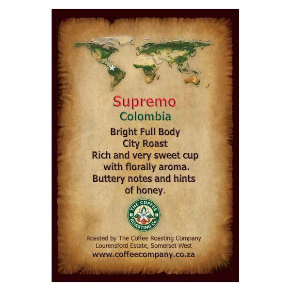 Colombia Supremo - Single Origin Coffee Bean - 1kg