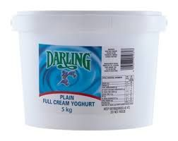 Darling Full Cream Plain Yogurt - BULK 5kg ONLY 1 IN STOCK
