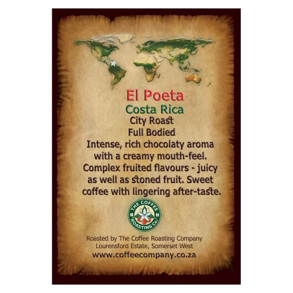 Costa Rica - El Poeta -  Single Origin Coffee Bean - 1kg