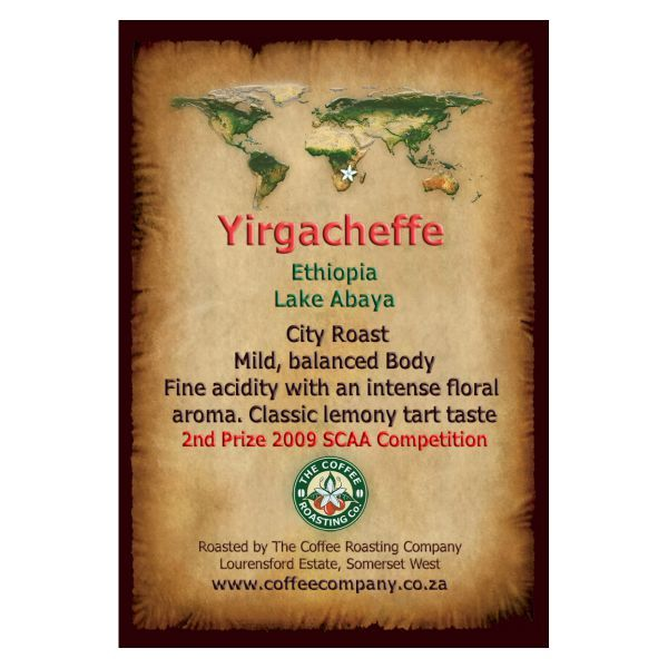 Ethiopia - Yirgacheffe -Single Origin Coffee Bean - 1kg