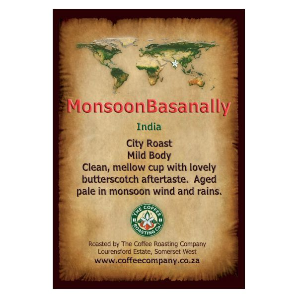 India - Monsoon Basanally - Single Origin Coffee - 250g