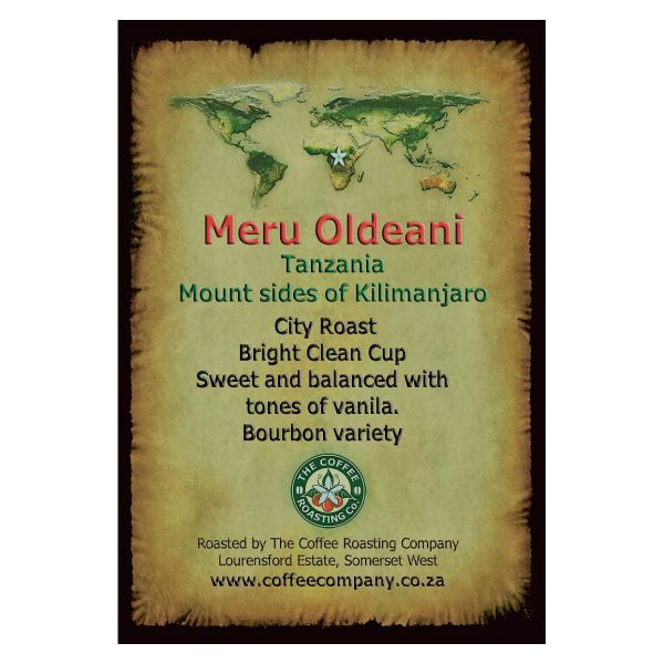 Tanzania - Meru Oldeani Single Origin Green Beans