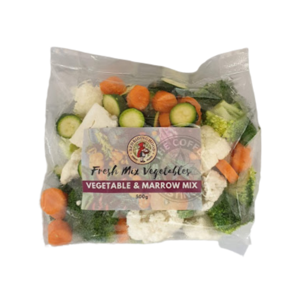 Fresh pre-cut Vegetable & Marrow Mix - 500g pouch